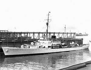 USCGC Campbell (WPG-32) - Campbell in the New York Navy Yard, 1940