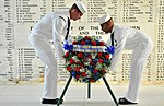 USS Arizona Memorial wreath-laying 130606-N-QG393-083.jpg