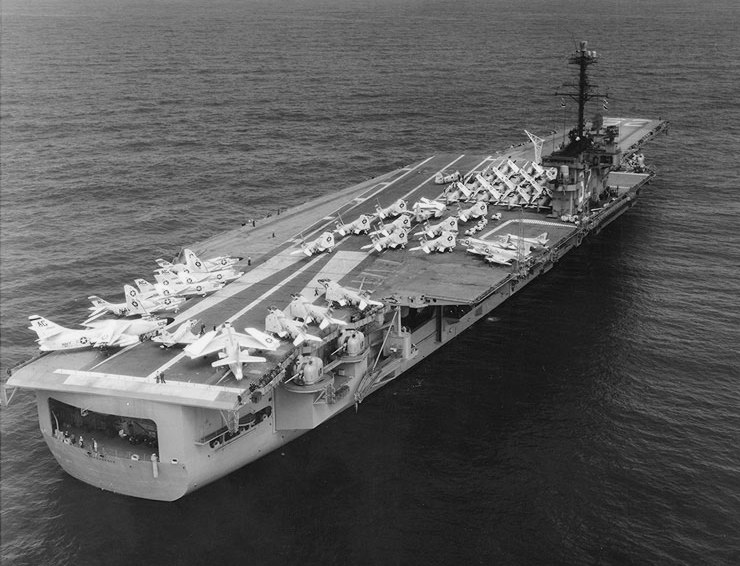USS Independence (CVA-62) during shakedown cruise 1959