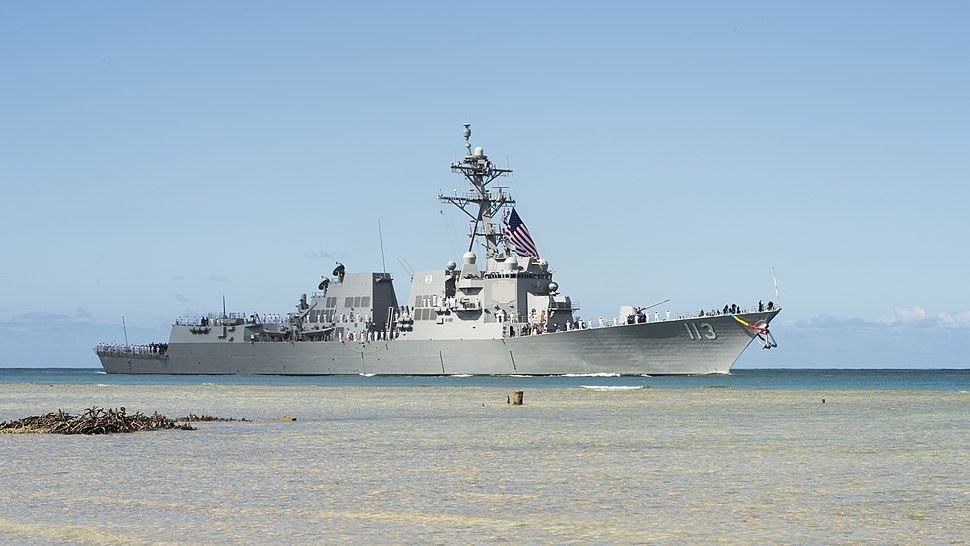 USS John Finn (DDG-113) arrives at Pearl Harbor on 10 July 2017