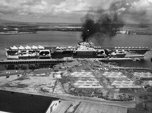 USS Ranger (CV-61) - Ranger at Pearl Harbor, 1959