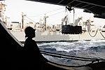 USS Ronald Reagan conducts replenishment at sea DVIDS198365.jpg