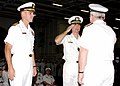 US Navy 021105-N-6817C-010 Change of Command ceremony conducted aboard USS Abraham Lincoln.jpg