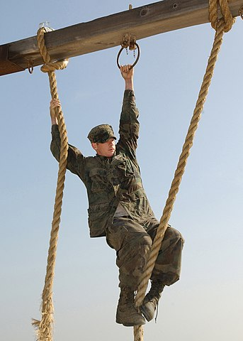 Leaving a person dangling in an obstacle course