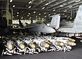 US Navy 030320-N-0295M-001 Dozens of bombs line the hangar bay aboard USS Constellation (CV 64) ready for use in support of Operation Iraqi Freedom.jpg
