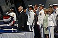 US Navy 030712-N-2383B-303 Honors are rendered to Vice President Dick Cheney as the Navy's newest nuclear-powered aircraft carrier USS Ronald Reagan (CVN 76) is commissioned into service.jpg