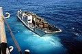 US Navy 040614-N-3832S-001 Landing Craft Unit (LCU) 1657 departs the well deck of the amphibious assault ship USS Nassau (LAH 4) carrying a load of Dutch BV 206 all-terrain vehicles.jpg