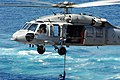 US Navy 060216-N-4374S-010 An MH-60S Seahawk helicopter, assigned to the Dragon Whales of Helicopter Sea Combat Squadron Two Eight (HSC-28), receives a cargo pendant.jpg