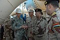 US Navy 070108-N-9268E-009 U.S. Army Corps of Engineers, Gulf Region Division Commander Brig. Gen. Michael J. Walsh takes time to visit with Capt. Chris Noble, Commander, Task Group (CTG) 158.1, and senior Iraqi officers.jpg
