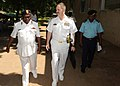 US Navy 110228-N-5085J-036 Capt. James E. Tranoris, commodore for Africa Partnership Station East, speaks with Tanzanian navy Col. JE Karia, comman.jpg