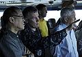 US Navy 110514-N-DR144-124 Capt. Bruce H. Lindsey, commanding officer of the aircraft carrier USS Carl Vinson (CVN 70), discusses flight operations.jpg