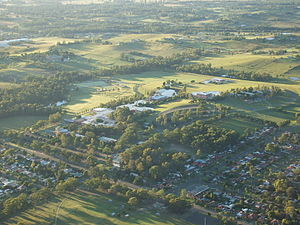 Western Sydney University - Aerial photograph of the Kingswood campus site