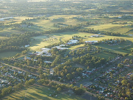 Aerial photograph of the Kingswood campus site UWS Penrith aerial.jpg