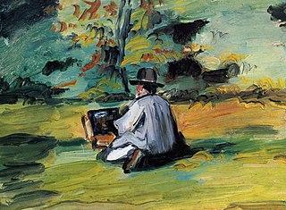 Un peintre au travail
