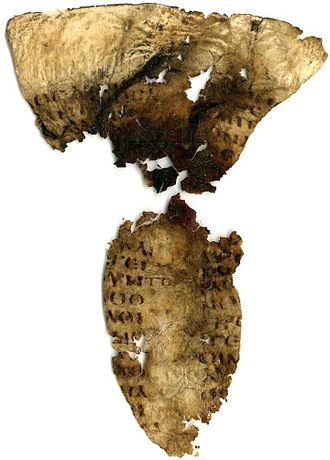 Mark 6 - Mark 6:30-41 in Uncial 0187 (6th century).