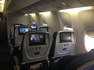 United Airlines - Economy plus seats on a Boeing 767