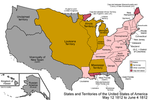 Origins of the War of 1812 - Image: United States 1812 05 1812 06