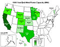 United States installed wind power capacity by state 1999.jpg