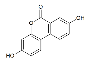 Urolithin - Chemical structure of urolithin A.