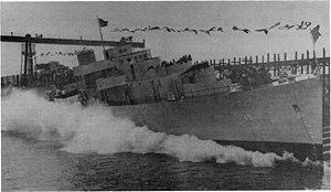 USS Annapolis (PF-15) being launched