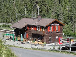 Valendas-Sagogn (Rhaetian Railway station) - Image: Valendas Bahnhof
