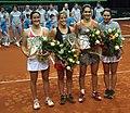 Valeria Solovyeva, Raluca Olaru, Lourdes Dominguez Lino, Lara Arruabarrena BNP Paribas Katowice Open 2013.jpg