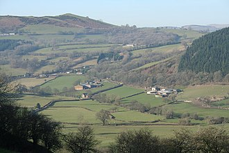 Llanfyllin - The valley of the River Cain near Llanfyllin