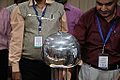 Van de Graaff Generator Experimentation - Indo-Finnish-Thai Exhibit Development Workshop - NCSM - Kolkata 2014-11-27 9745.JPG
