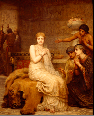 Vashti - Vashti Refuses the King's Summons by Edwin Long