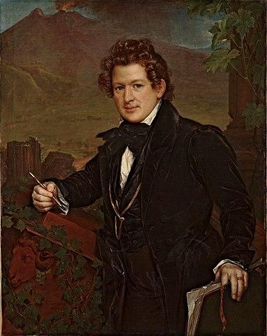Карл Брюллов на картине В.А.Тропинина, 1836г.