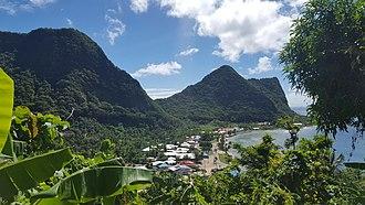 Vatia, American Samoa - Vatia from the Tuafanua Trail in the National Park of American Samoa