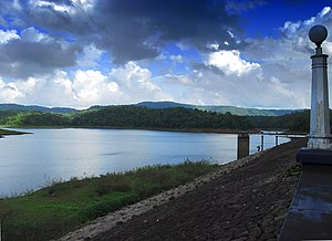 Vazhani Dam - A view of dam and reservoir