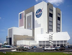 NASA's Vehicle Assembly Building as seen on Ju...