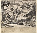 Venus ordering Psyche to take water from a fountain guarded by dragons, from the 'Fable of Cupd and Psyche' MET DP824472.jpg