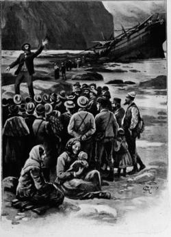 Verne - Les Naufragés du Jonathan, Hetzel, 1909, Ill. page 64