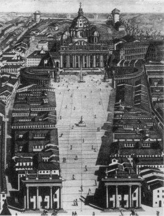 Via della Conciliazione - A 1776 concept for an open V-shaped boulevard.