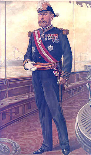 Caricature of Vice-Admiral Caillard.
