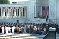 Victims of the Terrorist Attack on the Pentagon Memorial - funeral service at Memorial Amphitheater - Arlington National Cemetery - 2002-09-12.jpg