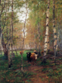 Victor Westerholm - Cows in a Birch Forest.png