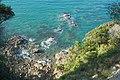View from Abel Tasman Coastal Track down rocky coast near Ratakura Point.jpg