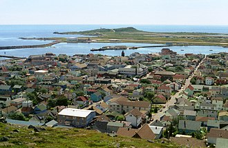 Saint Pierre Island - Image: View from Hilltop, St. Pierre (near Newfoundland, Canada)