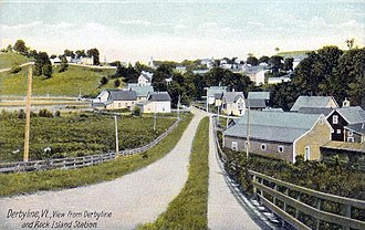 Derby Line, Vermont - Image: View from Station, Derby Line, VT
