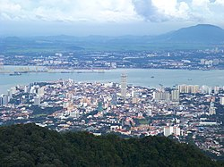 View from the Penang Hill, Georgetown, Penang, Malaysia.JPG