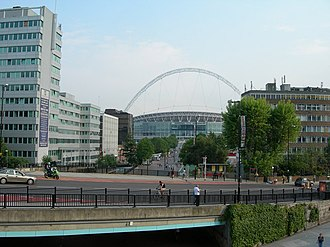 Wembley Park - Image: View from top of steps, Wembley Park Station geograph.org.uk 456268