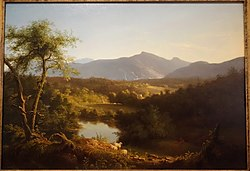 View near the Village of Catskill by Thomas Cole, 1827, oil on wood panel - De Young Museum - DSC00934.JPG
