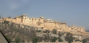 View of Amber fort from top of Jaigarh fort.JPG