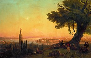 View of constantinople by evening light
