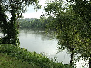 Danville, Virginia - View of the Dan River in downtown Danville