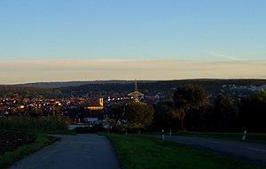 Karlsbad (Baden) - Image: View onto Langensteinbach (Karlsbad)