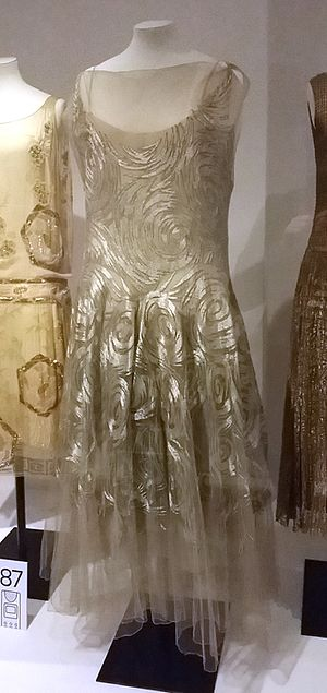 Madeleine Vionnet - Vionnet evening gown, embroidered silk net, 1931